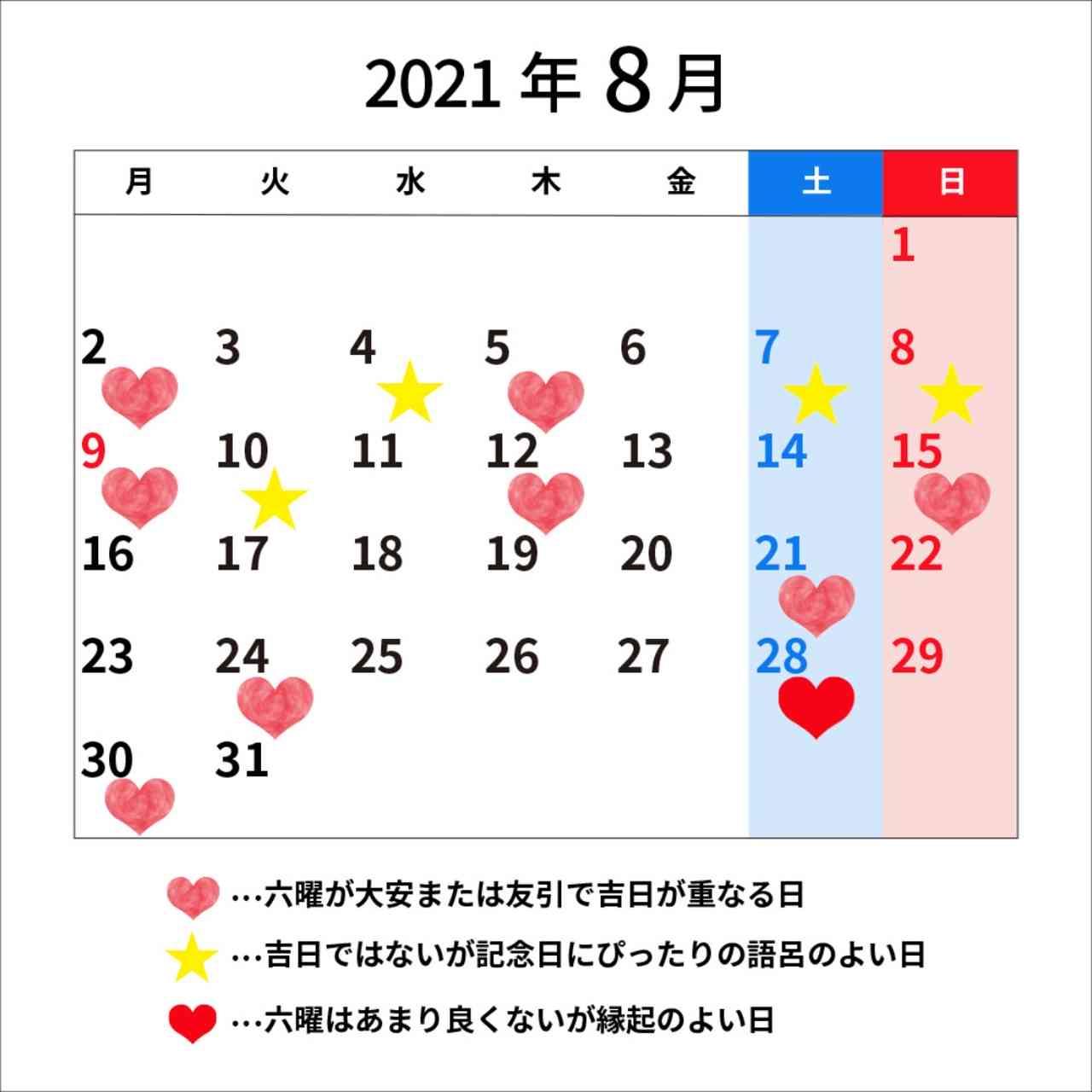 良い の 年 日 縁起 2021