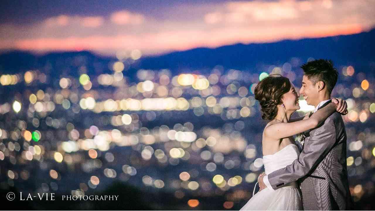 奈良の若草山夜景