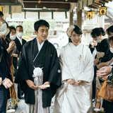 ニュースで話題!オンライン結婚式&親族のみの『神前式』を両方叶えた大井神社宮美殿での実例