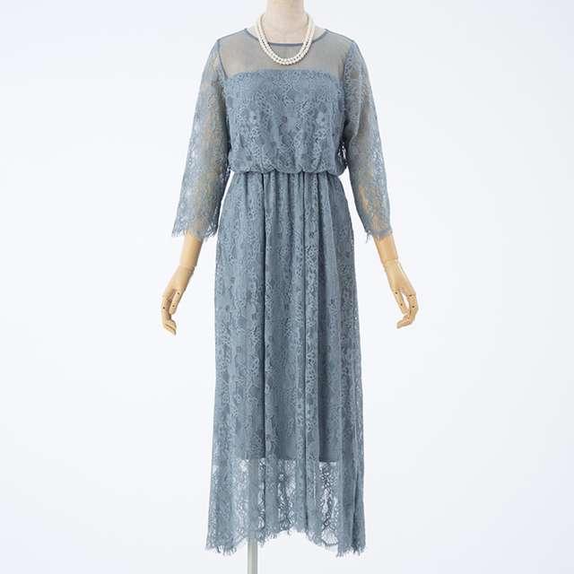 くすみブルーがかわいい結婚式お呼ばれナチュラル系おすすめドレス・ワンピース
