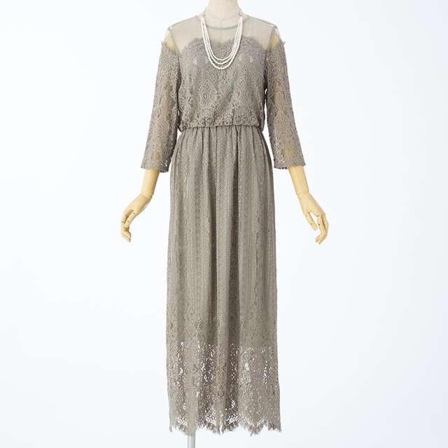 アースカラーの結婚式お呼ばれナチュラル系おすすめドレス・ワンピース