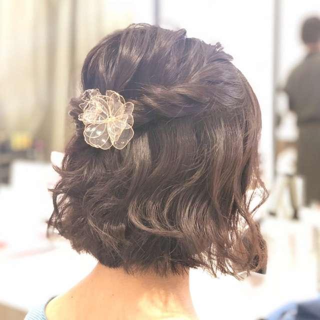 結婚式お呼ばれ髪型 ショート ボブ 簡単ヘアアレンジまとめ